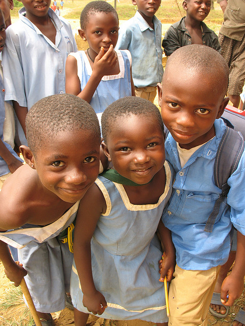 Children in School Uniforms in Cameroon