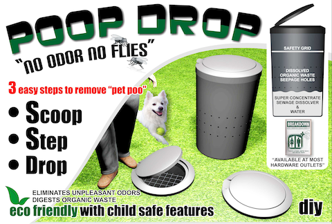 Advertisement of the Prop-Drop organic waste product