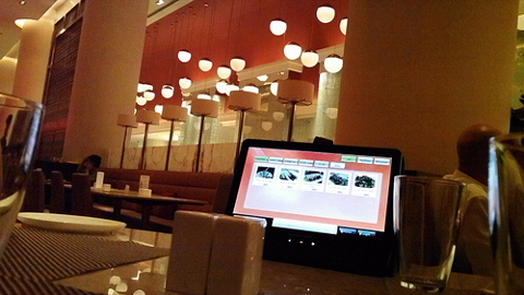 Digital menu in a restaurant