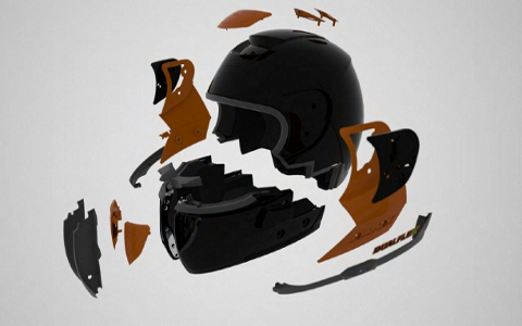 Picture of the Helmets Components