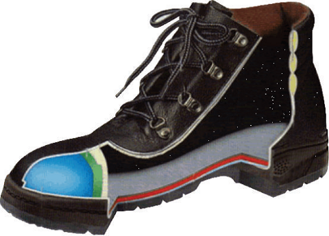 Drawing of an Industrial Safety Shoe