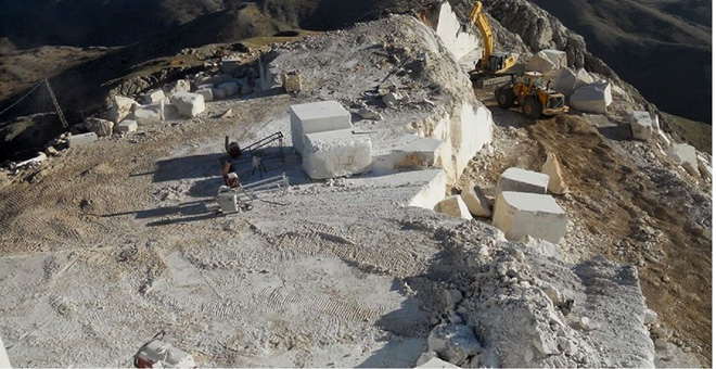 Marble quarry in Turkey.