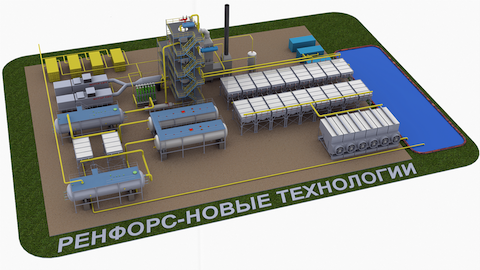 Picture of production complex of machinery