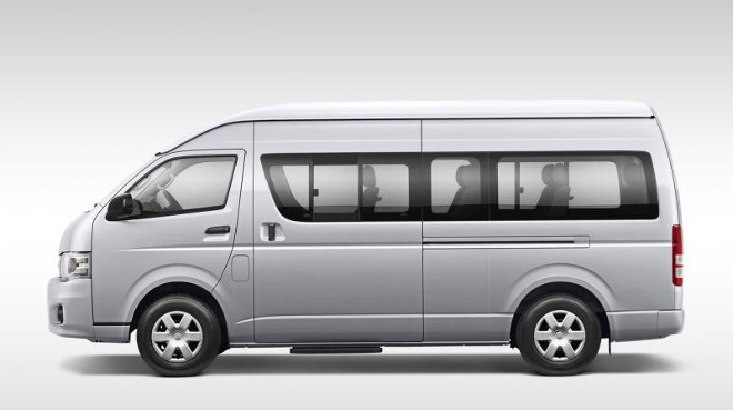 14-seater Toyota Hiace bus